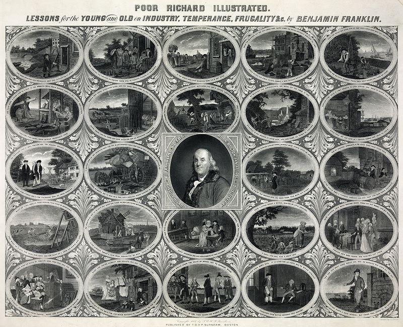 800px-Oliver_Pelton_-_Benjamin_Franklin_-_Poor_Richard's_Almanac_Illustrated
