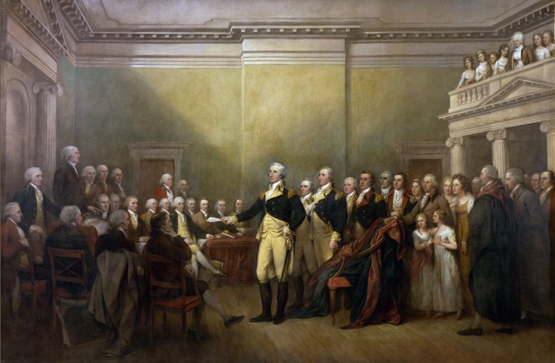 Washington Resigns His Commission