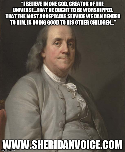 Franklin Love God and People Meme