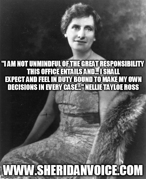Nellie Tayloe Ross Meme
